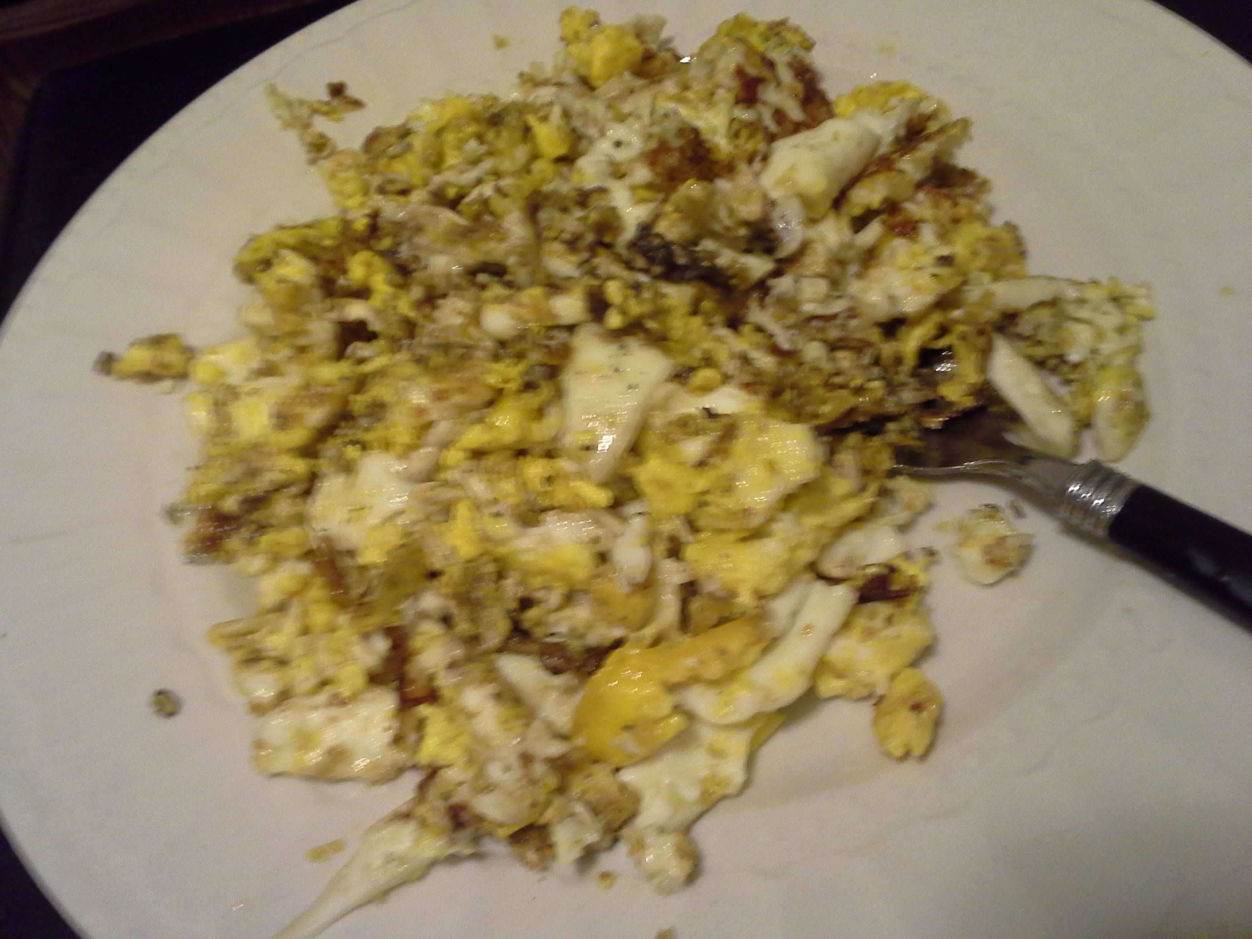 Dinner: 9:20 p.m. | 6 fried eggs, 2 Tbsp. ghee, herbs & spices