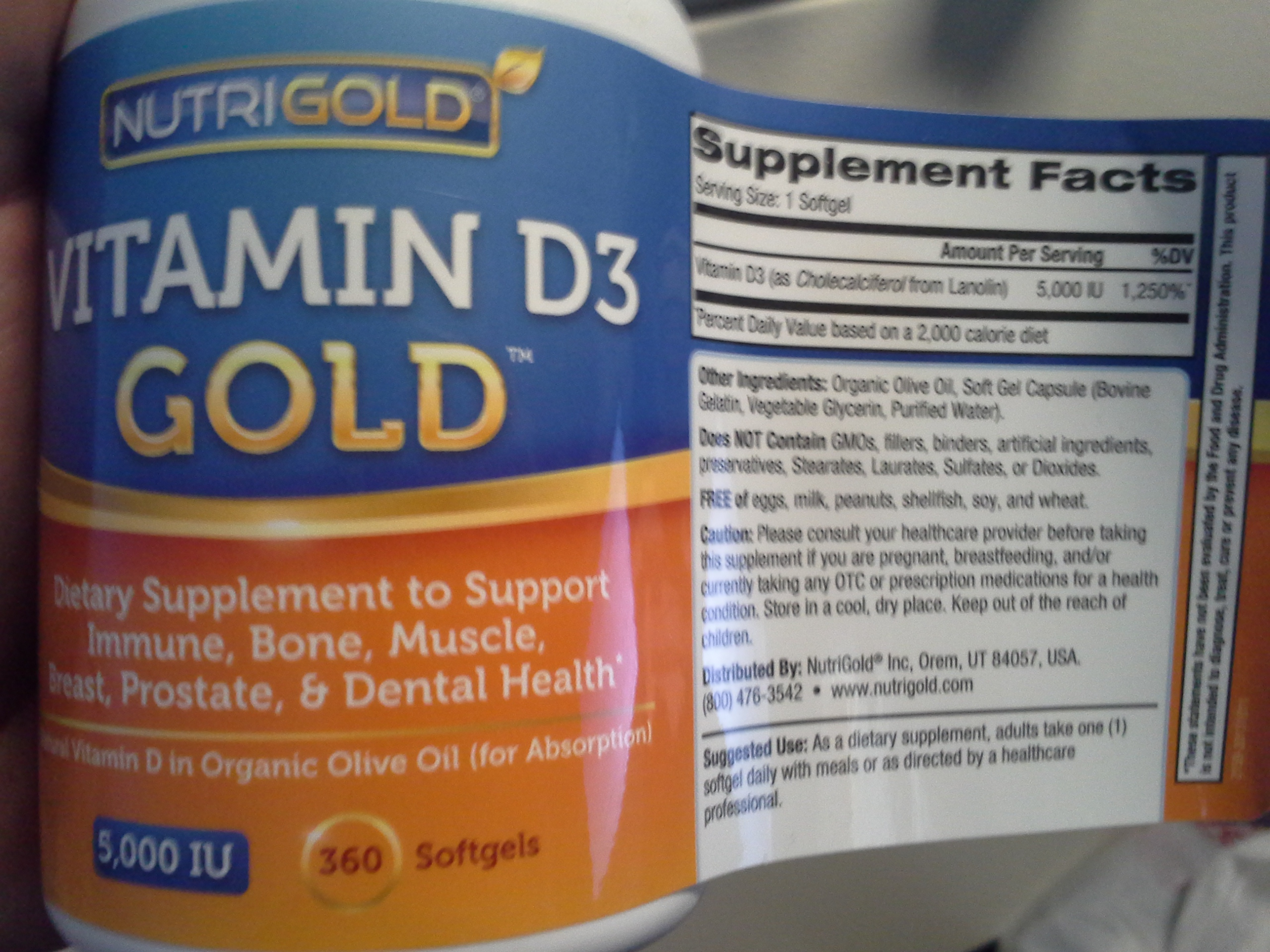 Lunch: 2:10 p.m. | 5,000 IU Vitamin D3 capsule