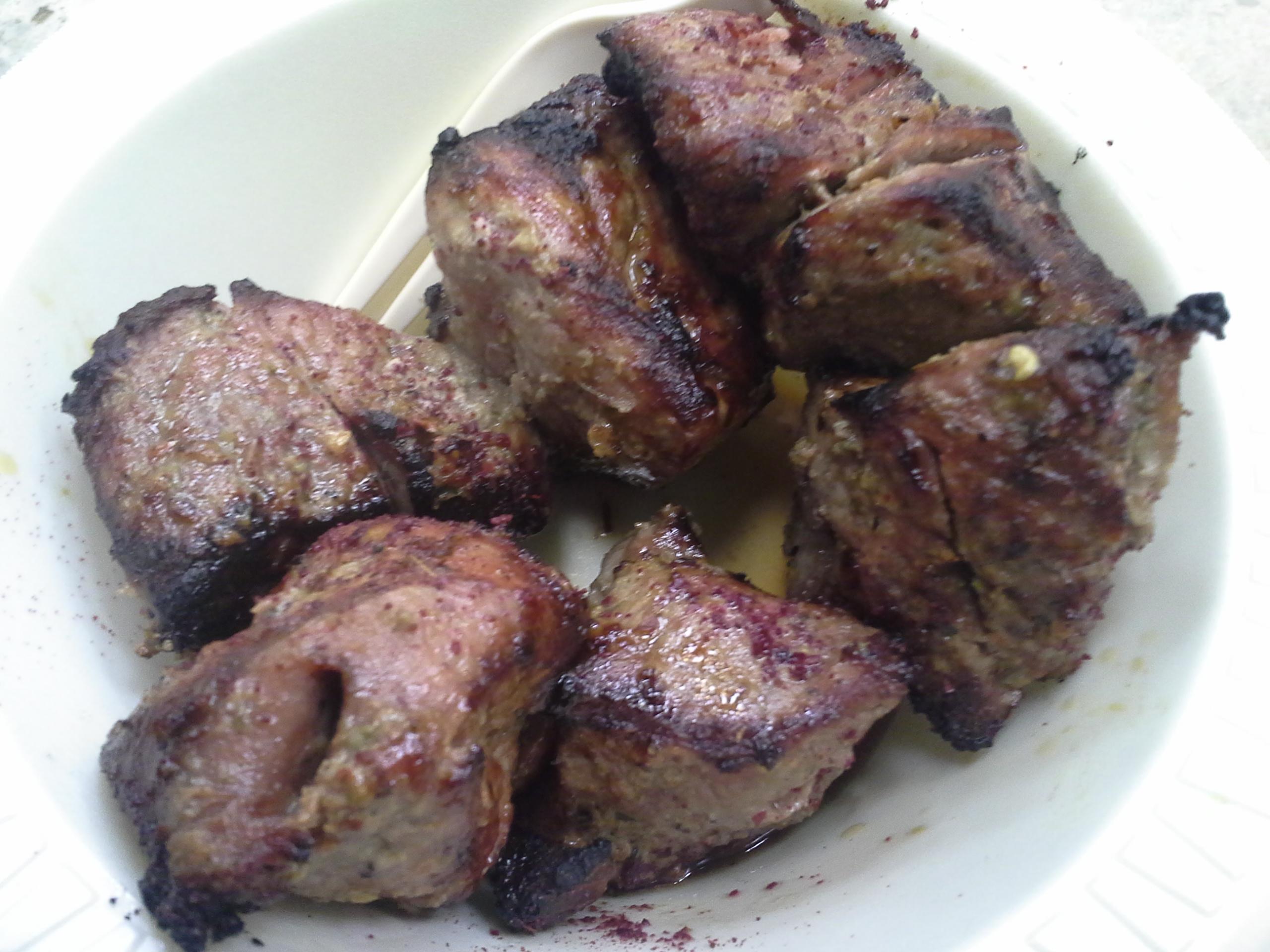 Dinner: 11:05 p.m. | Lamb kabob